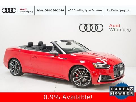 2018 Audi S5 Cabriolet Technik w/Dynamic Steering& Adaptive Suspension