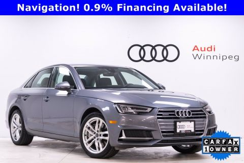 Pre-Owned 2019 Audi A4 Technik * Low KM Local*