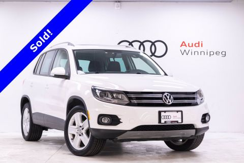 2014 Volkswagen Tiguan Comfortline w/Leather & Sunroof *Low KM*